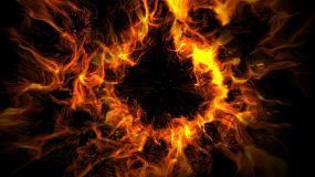 火焰炸开视频素材