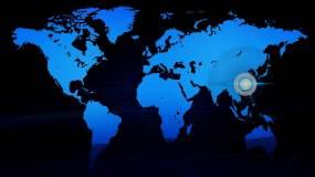 MB009科技连线地图辐射中国会声会影模板