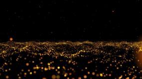 金色粒子视频背景素材视频素材