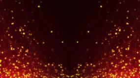 红色唯美梦幻流动光斑粒子背景视频素材