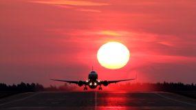 日出航天飞机起飞素材视频素材