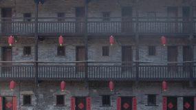 燕翼围围屋古代建筑赣州建筑视频素材