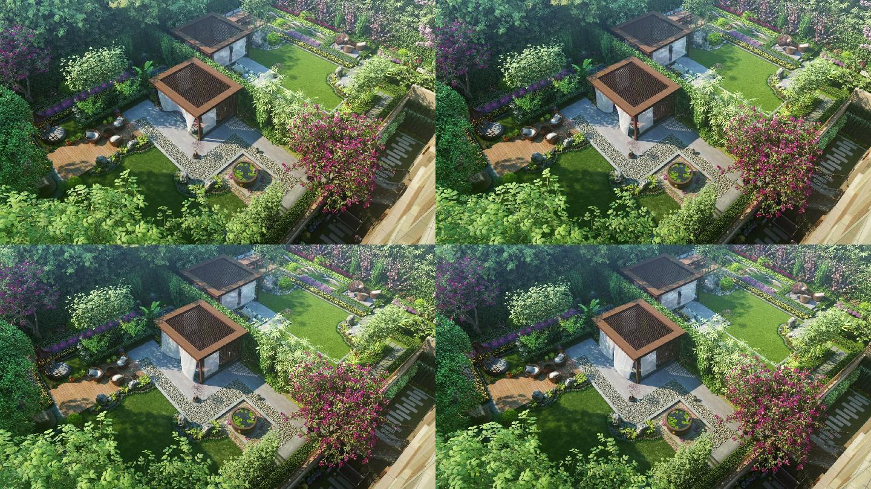 精致唯美的庭院风景