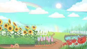 卡通循环背景视频素材