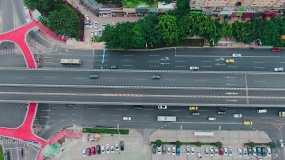重庆立交大桥公路道路航拍视频素材