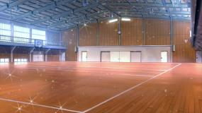 室内篮球场场景视频素材