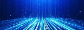 蓝色上升粒子特效背景视频素材