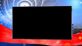 大会堂银色通道框03视频素材