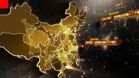 辐射全国地图分布数据模板AE模板