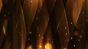 金色不规则粒子动态舞台背景视频素材
