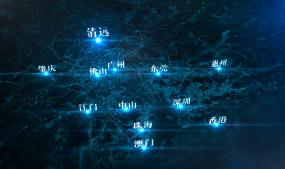 【原创】粤港澳大湾区城市交通(广清)蓝调AE模板