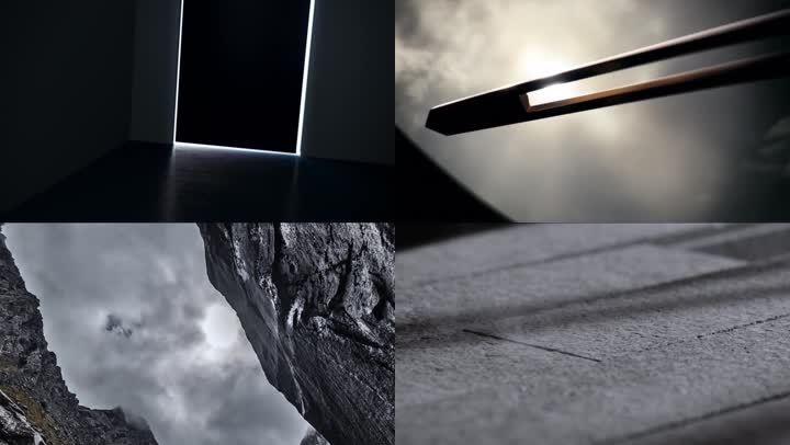 开门光影抽象组合地产光影变化
