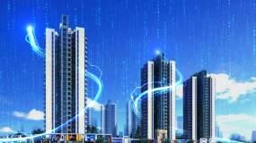 震撼科技光线城市片头AE模板