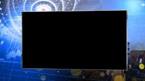 大会堂银色通道框02视频素材
