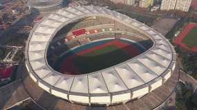 4K-原素材-上海万体馆体育馆航拍永利官网网址是多少