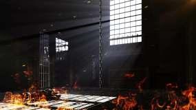 【原创】4K铁笼监狱牢房烈火3视频素材