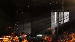 【原创】4K铁笼监狱牢房烈火1视频素材
