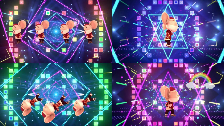 《野狼disco》歌曲老鼠跳舞背景
