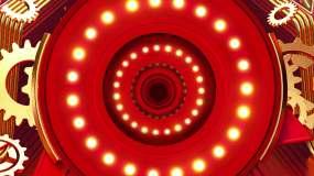 4K新年黄金金属质感中国红背景视频素材