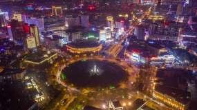 4K人民广场夜景延时航拍永利官网网址是多少