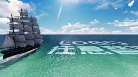 【原創】4K揚帆起航LOGO合成AE模板AE模板