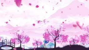 桃花扇配乐成品视频素材