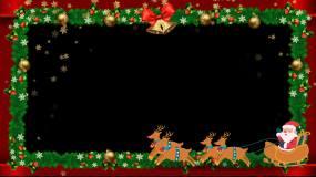 圣诞边框带通道视频素材
