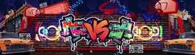 嘻哈街头涂鸦舞台大屏视频素材