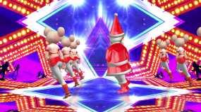 圣诞狂欢夜圣诞老人跳舞视频素材