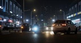 【原创】4K城市路灯夜晚小区夜景视频素材