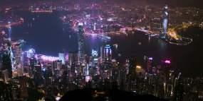 香港城市夜景视频素材