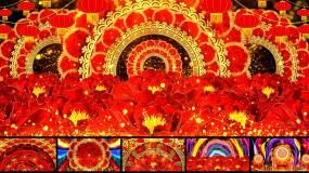新年《张灯结彩》配乐成品歌曲舞蹈背景视频素材