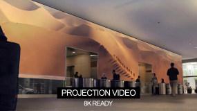 8K沙漠旅行骆驼商队超宽屏投影视频视频素材