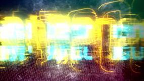 赛博朋克红蓝风新年模版AE模板