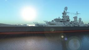 海上军舰3D动态模型视频素材