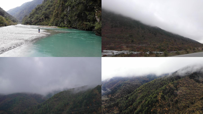 川西风光高清视频素、喇叭河、折多山空镜