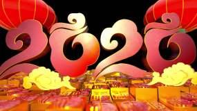 2020年新年春节片插转场视频素材视频素材
