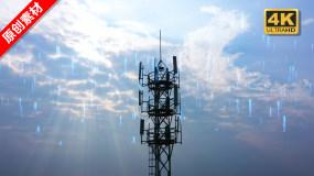 信号发射塔-5G基站-通讯塔视频素材包
