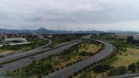 高清视频拍摄立交桥和宝塔视频素材
