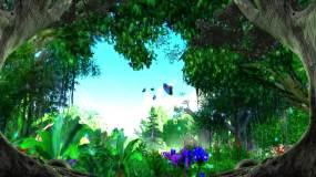 春天绿野仙踪大自然蝴蝶萤火虫森林视频素材