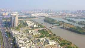 運河小鎮武珞科技園航拍-4K視頻視頻素材
