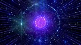 藍色星空粒子視頻素材