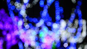 虚化的霓虹灯圆圈圈视频素材