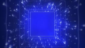 三维空间音符穿梭冲屏背景视频素材