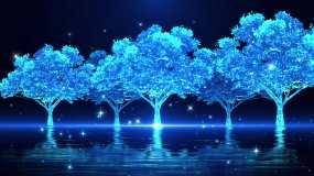 4K梦幻荧光树林背景循环视频素材