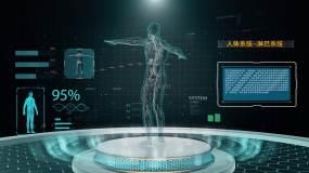 高科技人体器官展示合成版ae模板AE模板