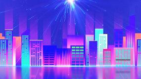 炫彩城市走屏城市夜景视频视频素材