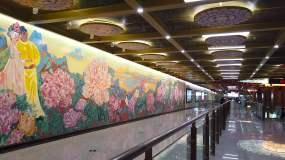 成都地铁五号线皇花园站视频素材