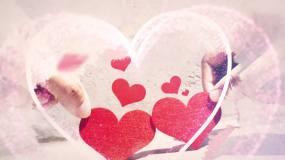 浪漫情人节爱心水墨图文AE模板AE模板