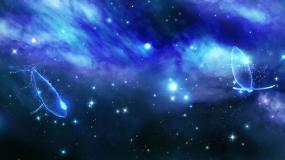 星空宇宙光影梦幻鲸鱼背景循环视频素材